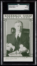 Baseball Cards:Singles (1940-1949), 1948 Baseball's Great HOF Exhibits Connie Mack SGC 88 NM/MT 8 - Pop Two, Two Higher....