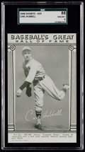 Baseball Cards:Singles (1940-1949), 1948 Baseball's Great HOF Exhibits Carl Hubbell SGC 88 NM/MT 8....