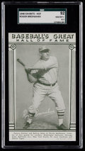 Baseball Cards:Singles (1940-1949), 1948 Baseball's Great HOF Exhibits Roger Bresnahan SGC 92 NM/MT+8.5 - Pop One, One Higher....