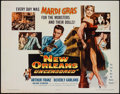 """Movie Posters:Crime, New Orleans Uncensored & Others Lot (Columbia, 1955). Half Sheets (3) (22"""" X 28""""). Crime.. ... (Total: 3 Items)"""