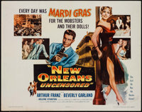 """New Orleans Uncensored & Others Lot (Columbia, 1955). Half Sheets (3) (22"""" X 28""""). Crime. ... (Total:..."""