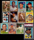 Baseball Cards:Lots, 1950's-1960's Topps/Bowman Baseball Superstars & Hall of FamersCollection (12) - With HoF Rookie. ...