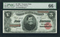 Large Size:Treasury Notes, Fr. 364 $5 1891 Treasury Note PMG Gem Uncirculated 66 EPQ.. ...