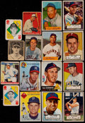 Baseball Cards:Lots, 1933-54 Bowman, Goudey & Topps Collection (16) With 1952 Topps Sain Error....