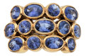 Estate Jewelry:Rings, Sapphire, Gold Ring, Temple St. Clair. ...