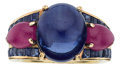 Estate Jewelry:Rings, Sapphire, Ruby, Gold Ring. ...