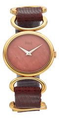 Estate Jewelry:Watches, Lady's Piaget Coral, Gold Watch. ...