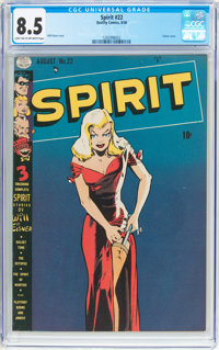 The Spirit #22 (Quality, 1950) CGC VF+ 8.5 Light tan to off-white pages