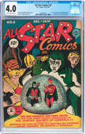Golden Age (1938-1955):Superhero, All Star Comics #8 (DC, 1942) CGC VG 4.0 Slightly brittle pages....