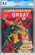 Golden Age (1938-1955):Science Fiction, Great Comics #3 (Great Comics Publications, 1942) CGC VG+ 4.5 Creamto off-white pages....