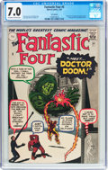 Silver Age (1956-1969):Superhero, Fantastic Four #5 UK Edition (Marvel, 1962) CGC FN/VF 7.0 Off-white to white pages....