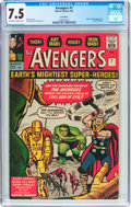 Silver Age (1956-1969):Superhero, The Avengers #1 UK Edition (Marvel, 1963) CGC VF- 7.5 Off-white towhite pages....