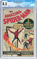 The Amazing Spider-Man #1 UK Edition (Marvel, 1963) CGC VF+ 8.5 Off-white to white pages