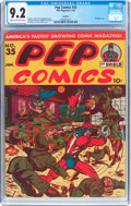 Golden Age (1938-1955):Humor, Pep Comics #35 Rockford Pedigree (MLJ, 1943) CGC NM- 9.2 Cream to off-white pages....