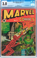 Golden Age (1938-1955):Superhero, Marvel Mystery Comics #5 (Timely, 1940) CGC GD/VG 3.0 Cream to off-white pages....