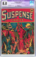 Golden Age (1938-1955):Superhero, Suspense Comics #3 (Continental Magazines, 1944) CGC Apparent VF 8.0 Moderate to Extensive (B-4) Off-white to white pages....