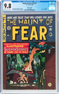 Haunt of Fear #15 (#1) Gaines File Copy (EC, 1950) CGC NM/MT 9.8 Off-white to white pages