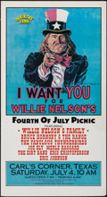 """Movie Posters:Musical, Willie Nelson's Fourth of July Picnic (1987). Concert Poster (20.5"""" X 37.75""""). Musical.. ..."""