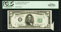 Error Notes:Attached Tabs, Fr. 1962-E $5 1950A Federal Reserve Note. PCGS Gem New 66PPQ.. ...