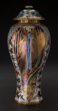 Ceramics & Porcelain, British:Modern  (1900 1949)  , A Wedgwood Fairyland Lustre Porcelain Candlemas PatternCovered Vase, Designed by Daisy Makeig-Jones, Burslem (S...