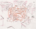 Animation Art:Concept Art, Last Action Hero Whiskers Concept Drawing Art (Sony, 1993)....