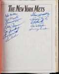 Baseball Collectibles:Publications, 1986 The New York Mets Multi-Signed Book with Ryan, Mays, Seaver& More. ...