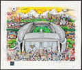 Football Collectibles:Photos, 2009 AT&T Stadium Dallas Cowboys Charles Fazzino Pop Art. ...