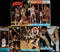 Basketball Collectibles:Programs, 1968-71 New York Knicks Team Signed Programs Lot of 5....