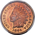 Proof Indian Cents, 1864 1C L On Ribbon PR64 Red and Brown PCGS. Snow-PR2....