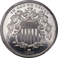 Patterns, 1869 5C Five Cents, Judd-688, Pollock-769, High R.7, PR67 Cameo NGC. CAC....