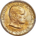 Commemorative Gold, 1922 G$1 Grant Gold Dollar, With Star, MS68 PCGS....