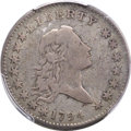 Early Half Dollars, 1794 50C O-105, T-3, R.5, Fine 15 PCGS....