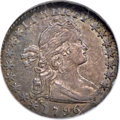 Early Half Dimes, 1796 H10C LIKERTY, V-1, LM-1, R.3, AU55 NGC....