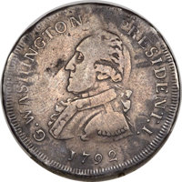 1792 50C Washington Getz Pattern Half Dollar, Small Eagle, Silver -- Damaged -- NGC Details. VF. Baker-24, W-10780, R.6...