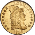 Early Half Eagles, 1798 $5 Large Eagle, Small 8, BD-8, R.5, MS61 NGC....