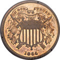 Proof Two Cent Pieces, 1864 2C Small Motto PR62 Red and Brown PCGS. FS-401....