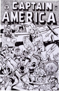 Original Comic Art:Covers, Ollie Drac Captain America #31 Cover Recreation Original Art(2003). ...