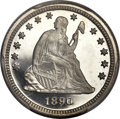 Proof Seated Quarters, 1890 25C PR66 Deep Cameo PCGS....