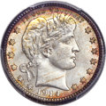Barber Quarters, 1914-S 25C MS66 PCGS....