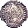 Early Dimes, 1797 10C 16 Stars, JR-1, R.4 -- Improperly Cleaned -- NGC Details.VF....