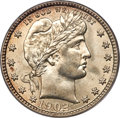 Barber Quarters, 1902-O 25C MS65 PCGS. CAC....