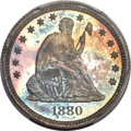 Proof Seated Quarters, 1880 25C PR67 PCGS. Briggs 2-B....