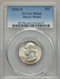 Washington Quarters, 1934-D 25C Heavy Motto MS66 PCGS. PCGS Population (40/3). ...