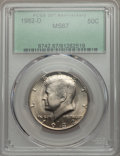 Kennedy Half Dollars, 1982-D 50C MS67 PCGS. PCGS Population (21/0). NGC Census: (15/0).Mintage: 13,140,102. ...