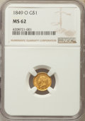 Gold Dollars, 1849-O G$1 Open Wreath MS62 NGC. Variety 3....