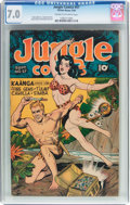 Golden Age (1938-1955):Adventure, Jungle Comics #57 (Fiction House, 1944) CGC FN/VF 7.0 Cream to off-white pages....