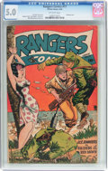 Golden Age (1938-1955):War, Rangers Comics #17 (Fiction House, 1944) CGC VG/FN 5.0 Off-whitepages....