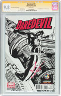 Modern Age (1980-Present):Superhero, Daredevil #1 Convention Sketch Edition - Signature Series (Marvel,2014) CGC NM/MT 9.8 White pages....