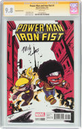 Modern Age (1980-Present):Superhero, Power Man and Iron Fist #1 Young Variant Cover - Signature Series (Marvel, 2016) CGC NM/MT 9.8 White pages....