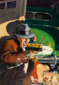 Pulp, Pulp-like, Digests, and Paperback Art, American Artist (20th Century). World's Fair 1939, probableDetective pulp magazine cover. Oil on canvas. 34.5 x 24 in....
